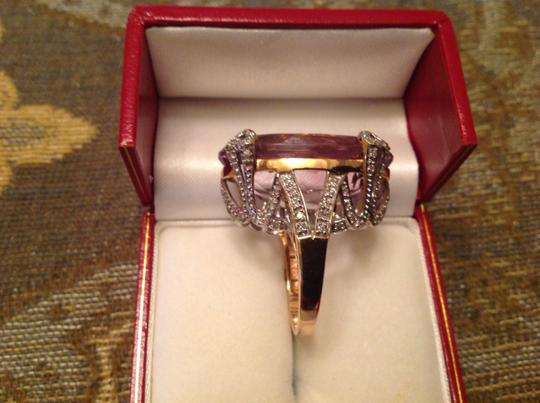 Other 43.16CTW AMETHYST & DIAMOND RING