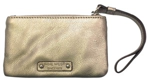 Nine West Wallet Wristlet in Metallic Gold Leather