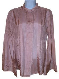 Zara Silk Bell Sleeves Tunic Top Muted Blush