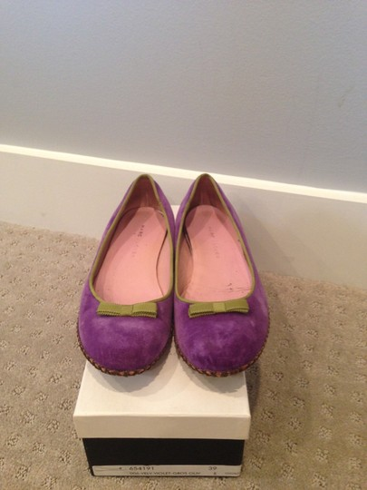 Marc Jacobs Velvet Purple Flats