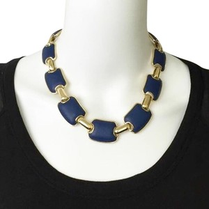 Brooks Brothers BROOKS BROTHERS Chunky Blue & Gold Statement Necklace!