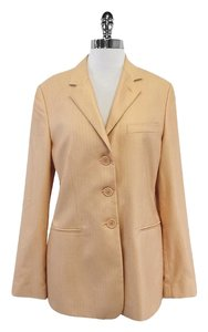 Giorgio Armani Apricot Cahmere Silk Suit Jacket