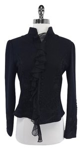 Ralph Lauren Black Wool Embellished Jacket
