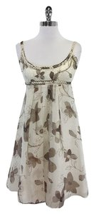 Cynthia Steffe short dress Cream Brown Floral Print on Tradesy