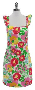 Lilly Pulitzer short dress Multi Color Floral Cotton on Tradesy