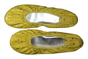Jeffrey Campbell Yellow with silver stars Flats