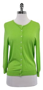 Trina Turk Lime Green Button Down Cardigan