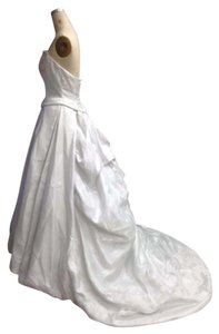 St. Pucchi 358 Silk Silver Over Ivory Beaded Avine Perucci / St. Pucchi Wedding Dress