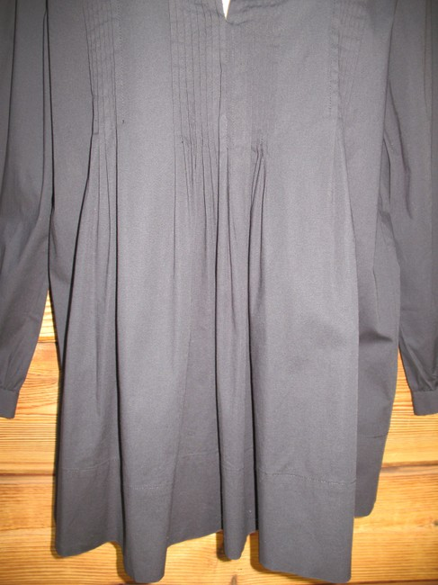 Saks Fifth Avenue Pin Tuck 3/4 Sleeve Stretch Cotton Tunic Image 3