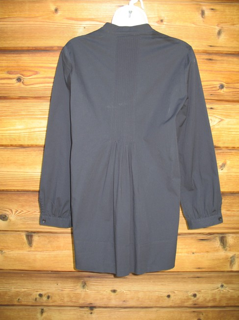 Saks Fifth Avenue Pin Tuck 3/4 Sleeve Stretch Cotton Tunic Image 4