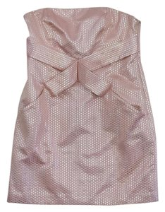 Tibi short dress Pink & Silver Criss Cross on Tradesy