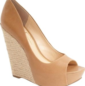 Jessica Simpson Beige, Camel Wedges