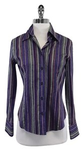 Etro Multi Color Striped Button Cotton Shirt Button Down Shirt
