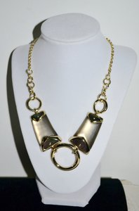 Alexis Bittar New ALEXIS BITTAR Warm Gray Lucite and Mother of Pearl Link Necklace
