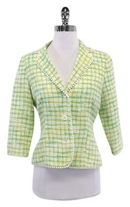 Lilly Pulitzer Green Cotton Tweed Blazer