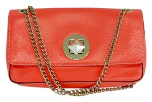 Kate Spade Small Bright Coral Leather Chain Shoulder Bag
