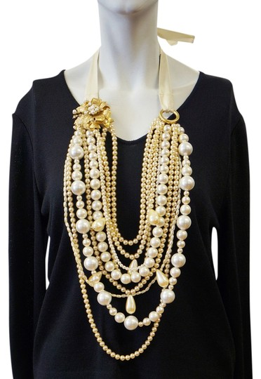 Preload https://item1.tradesy.com/images/st-john-ivory-vintage-xl-long-statement-couture-runway-layered-faux-pearl-rare-necklace-1767300-0-0.jpg?width=440&height=440