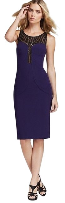 Black Halo Eve Laurel Berman Purple Eggplant Lbd Wedding Event Aubergine Dress
