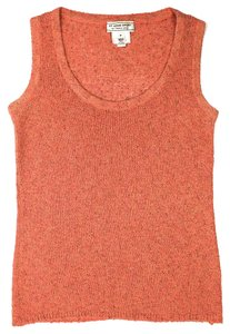 St. John Sport by Marie Gray Tweed Business Casual Gold Hardware Wool Top Orange