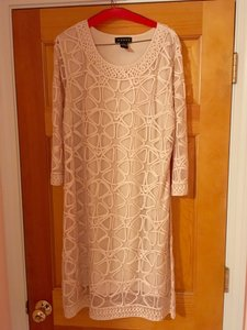 Weavz Beige 3/4 Sleeve Dress