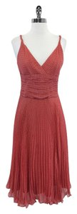Laundry by Shelli Segal Pink Sleeveless Polka Dot Print Dress