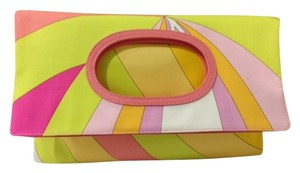 Emilio Pucci Tote Yellow/ pink/ white Clutch