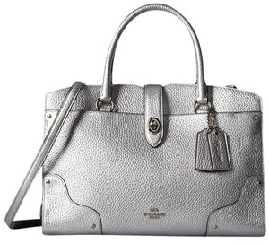 Coach Mercer 30 Leather 37575 Satchel in Silver