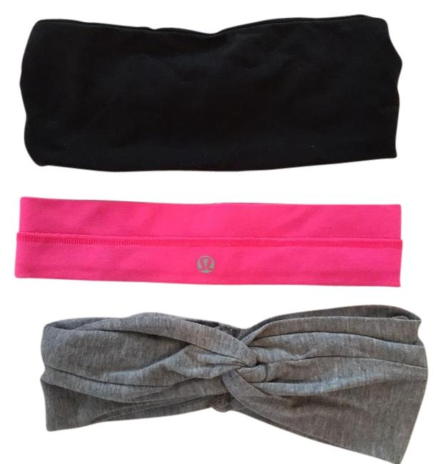 Item - Black Heather Gray Pink 3 Headbands Activewear Gear Size OS (one size)