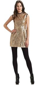 Nanette Lepore Sequin Party Contemporary Gold Dress