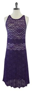 Missoni Purple Hued Wavy Striped Dress