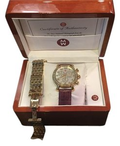 Michele Diamond Gold-plated Ladies Watch