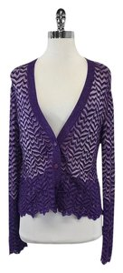 Missoni Purple Hued Wavy Striped Cardigan
