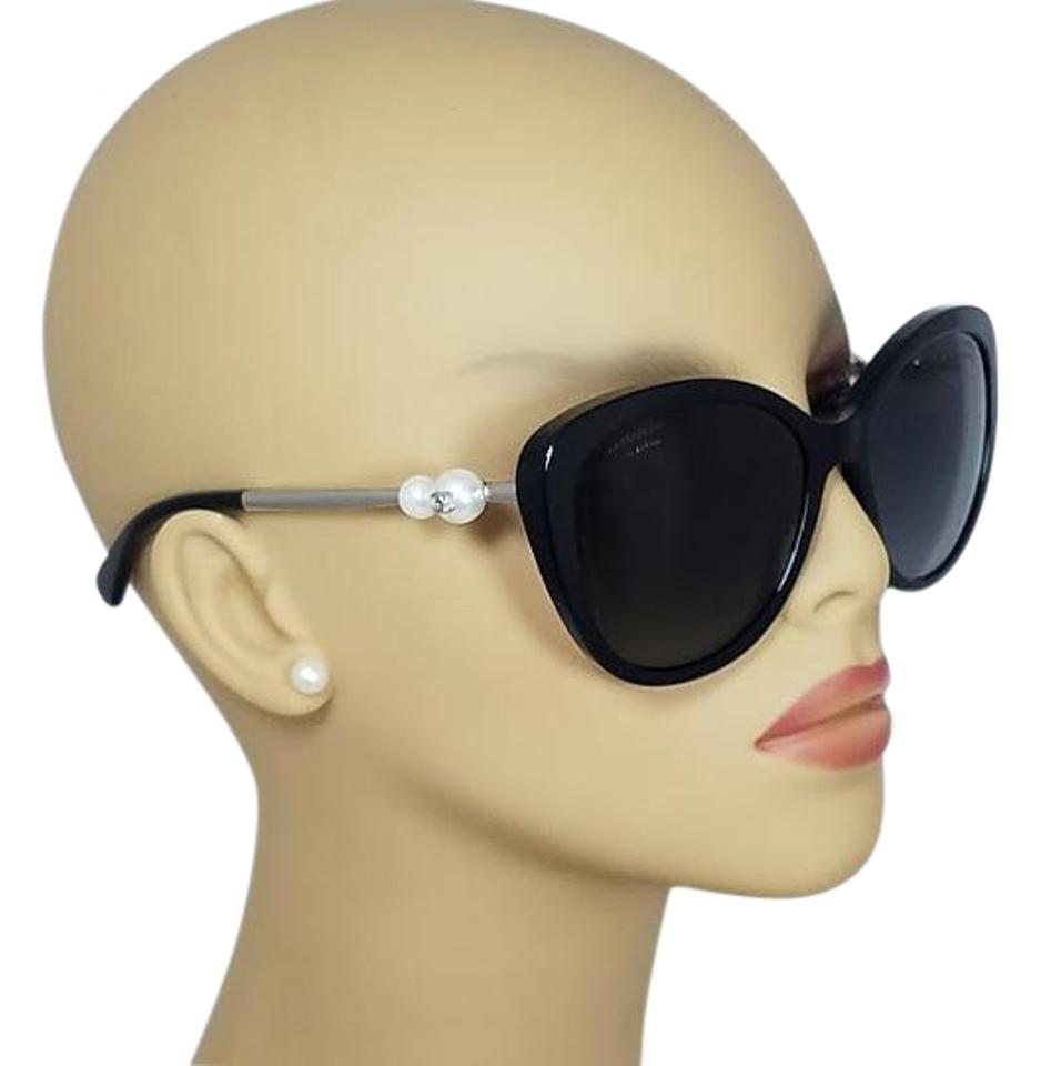 7029fce06 Chanel Chanel Butterfly Pearl Black Polarized Sunglasses 5338H C501/S8  Image 0 ...