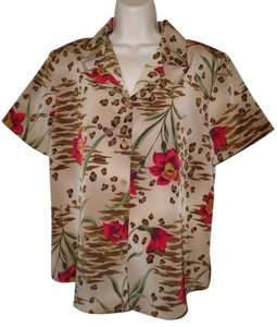 Susan Graver Button Down Shirt Multi