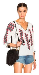 Ulla Johnson Boho Ophelia Embroidered Top white