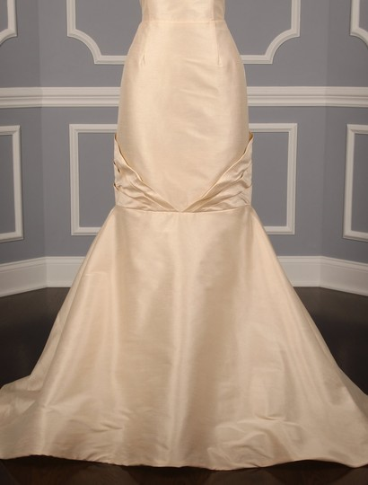Anne Barge Champagne Dupioni Colette Formal Wedding Dress Size 10 (M) Image 3