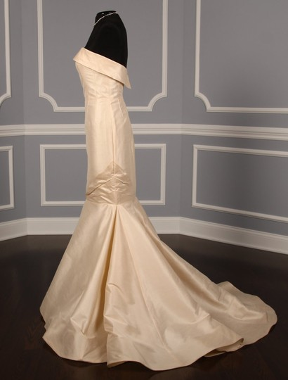 Anne Barge Champagne Dupioni Colette Formal Wedding Dress Size 10 (M) Image 4