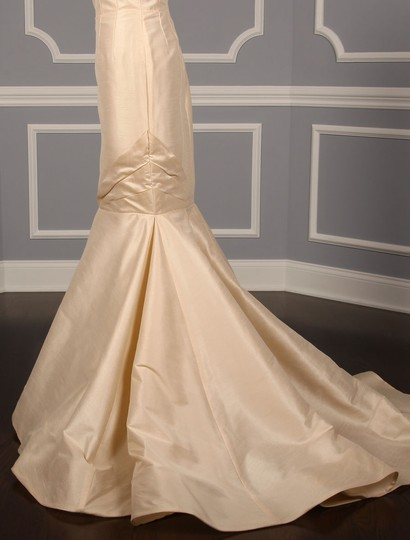 Anne Barge Champagne Dupioni Colette Formal Wedding Dress Size 10 (M) Image 6