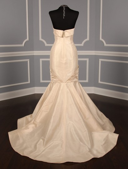 Anne Barge Champagne Dupioni Colette Formal Wedding Dress Size 10 (M) Image 8