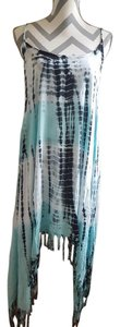 Blue -Charcoal Maxi Dress by Beach by Exist USA With Tags