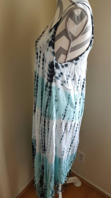 Blue -Charcoal Maxi Dress by Beach by Exist USA With Tags Great With Swimsuits Image 2