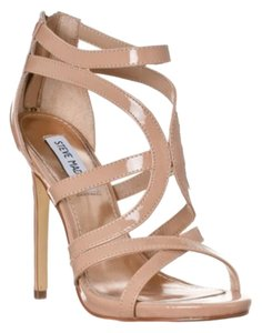 Steve Madden Maree Patent Heel Taupe Sandals