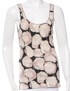 Chanel Floral Interlocking Cc Top Beige, Pink, Black