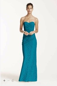 David's Bridal Oasis Long Strapless Lace Dress With Sweetheart Neckline Dress