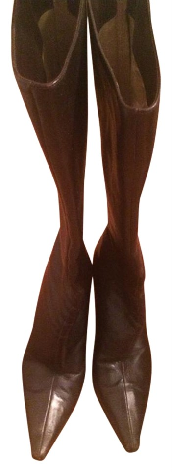 Choo Stiletto Brown Boots Booties Jimmy 67UCnSxgn