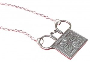 Human Spirit Soul Lock Necklace Thailand Hill Tribe Amulet Pendant SyFy Being Human 95 to 99 Percent Silver Fair Trade Hand Made Hmong Asian