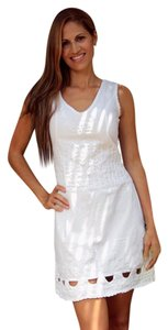 Lirome short dress White Embroidered Bohemian Ibicenco Cottage Chic on Tradesy