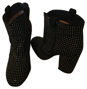 Laurence Dacade Black dude/gold studs Boots