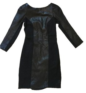 Diane von Furstenberg Dvf Leather Contemporary Edgy Dress