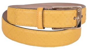 Gucci New Gucci Men's 345658 YELLOW Diamante Leather Belt 42 105